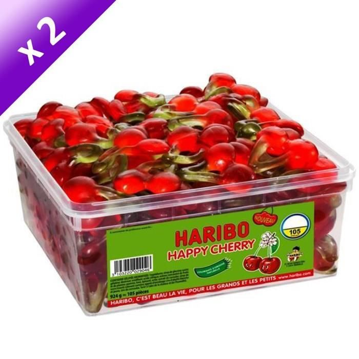 [LOT DE 2] HARIBO Bac 105 Happy Cherry
