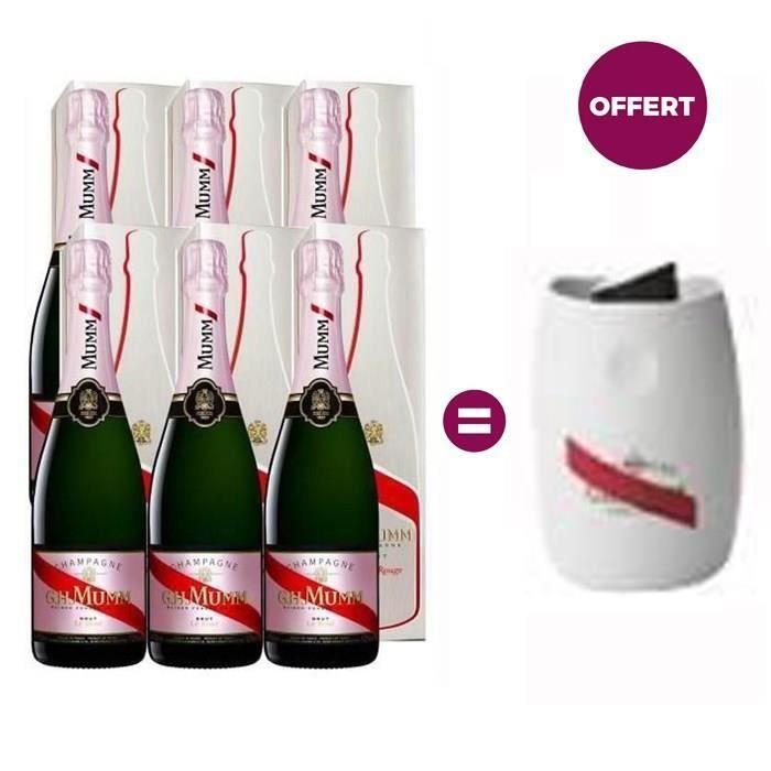 Champagne Mumm Brut Rosé - 6 Bouchons