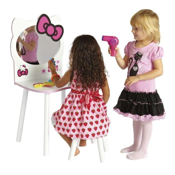 Coiffeuse Et Tabouret Hello Kitty