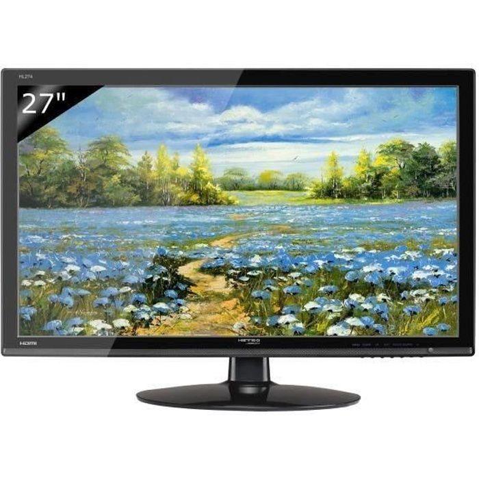 HANNSPREE Écran LED HL274HPB 27- 16/9 1920 x 1080 300 cd/m2 5 ms haut-parleurs HDMI/DVI-D/VGA