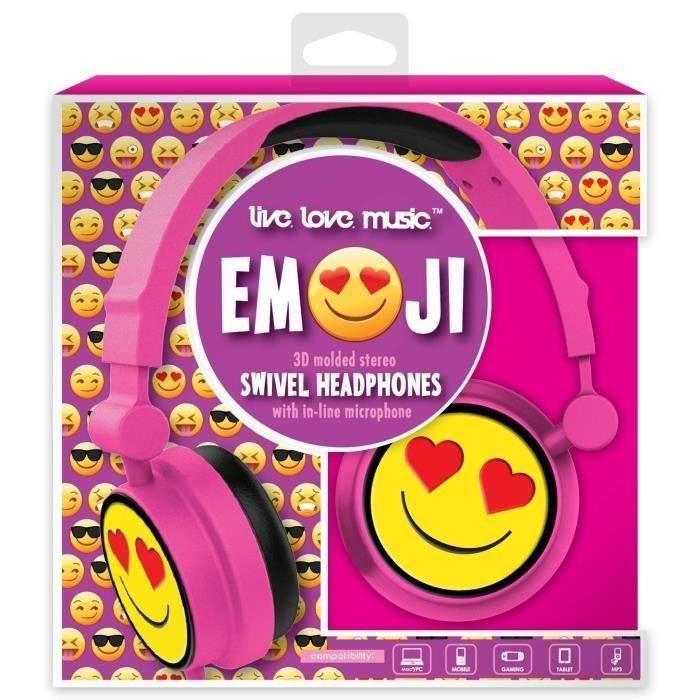 DGL TOYS casque audio enfant audio Emoticon Cœur
