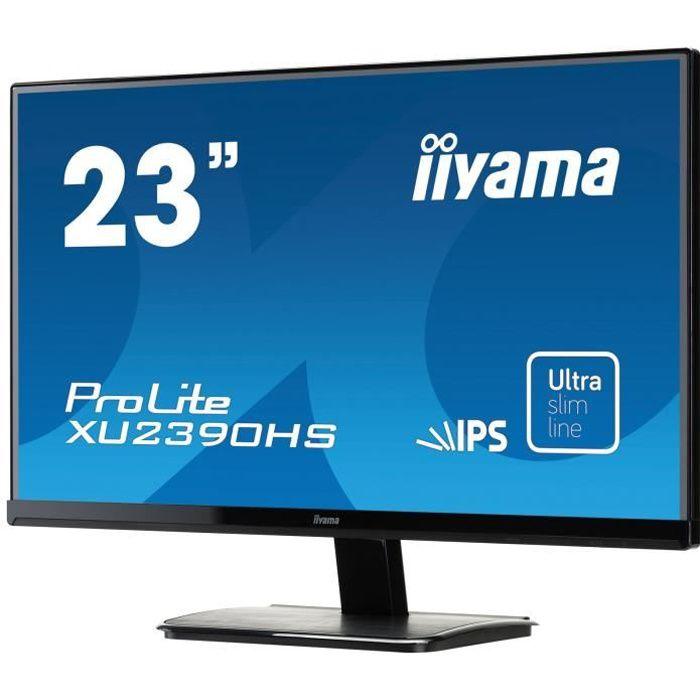 Ecran PC - IIYAMA ProLite XU2390HS-B1 - 23- FHD - Dalle IPS - 4ms - VGA/DVI-D/HDMI