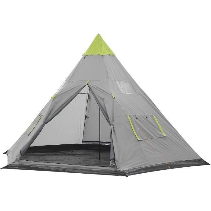 SURPASS - Tente tipi - 4 personnes - Vert & Gris