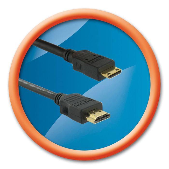 T'nB CABLE Mini HDMI mâle / HDMI mâle 1 mètre