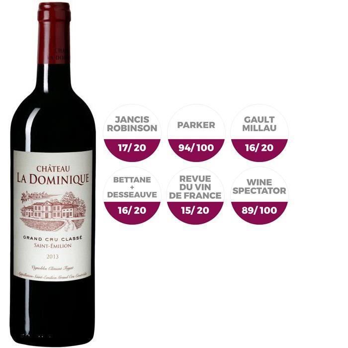 Château La Dominique 2013 Saint Emilion Grand Cru - Vin rouge de Bordeaux