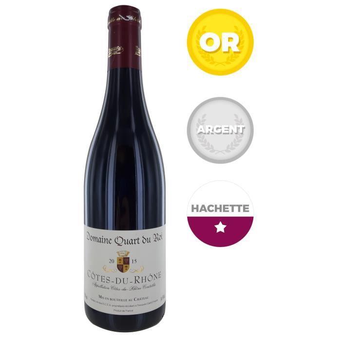 Domaine Quart du Roy 2014 Côtes du Rhône - Vin rouge du Rhône