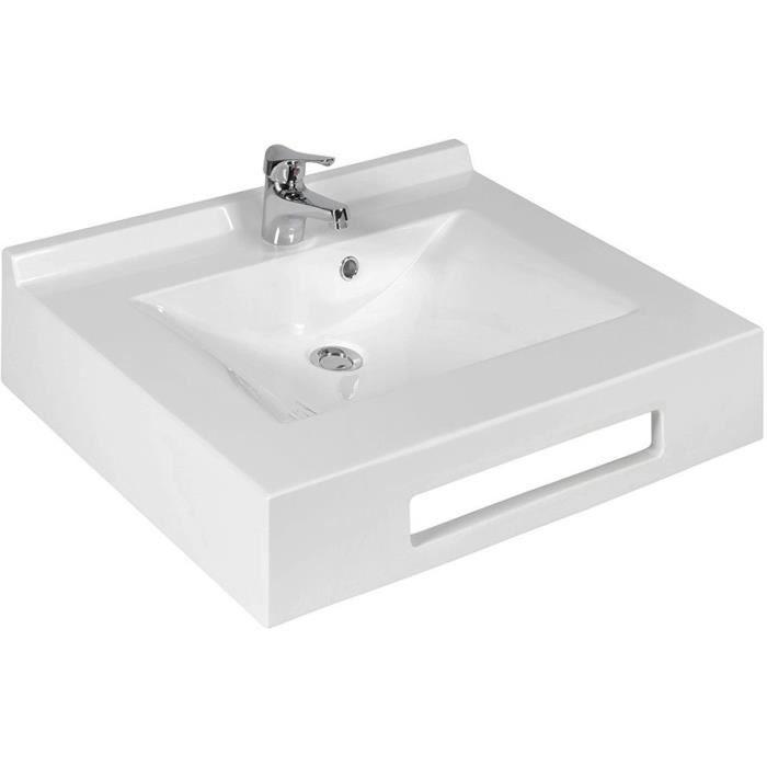 CREAZUR Plan vasque auto-portant Evidence Blanc