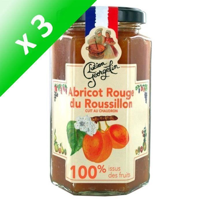 [LOT DE 3] Confiture abricots 100% 300G Lucien Georgelin