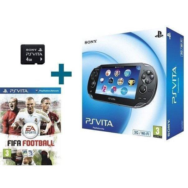 PS VITA 3G + CARTE MEMOIRE 4 Go + FIFA FOOTBALL