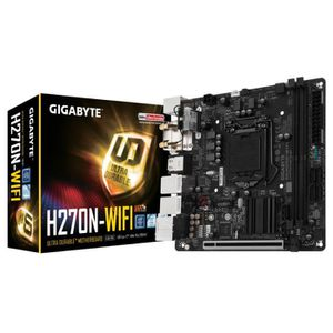 Gigabyte Carte m?re GA-H270N-WIFI - Socket LGA 1151 - DDR4 - 2400 Hz - 32 Go