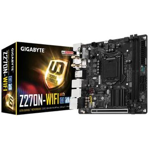 Gigabyte Carte m?re GA-Z270N-WIFI - Socket LGA 1151 - DDR4 - 2400 Hz - 32 Go