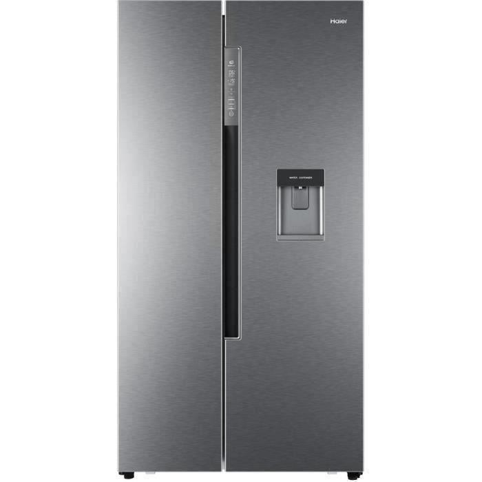 HAIER HRF-522IG6 - Réfrigérateur Américain - 500L (331+169) - Total No Frost - A+ - L90,8 x H179 cm - Silver