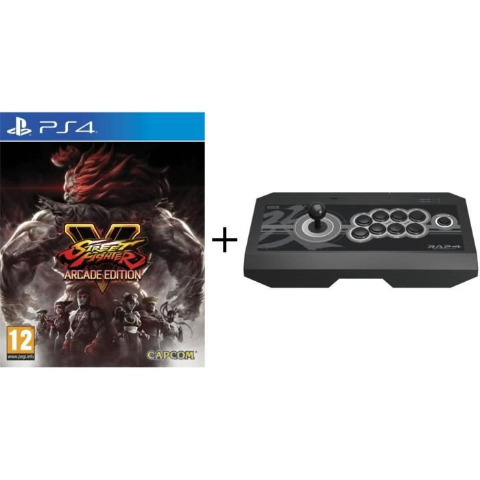 Pack PS4: Jeu Street Fighter V Edition Arcade + Joystick Real Arcade Pro 4 KAI