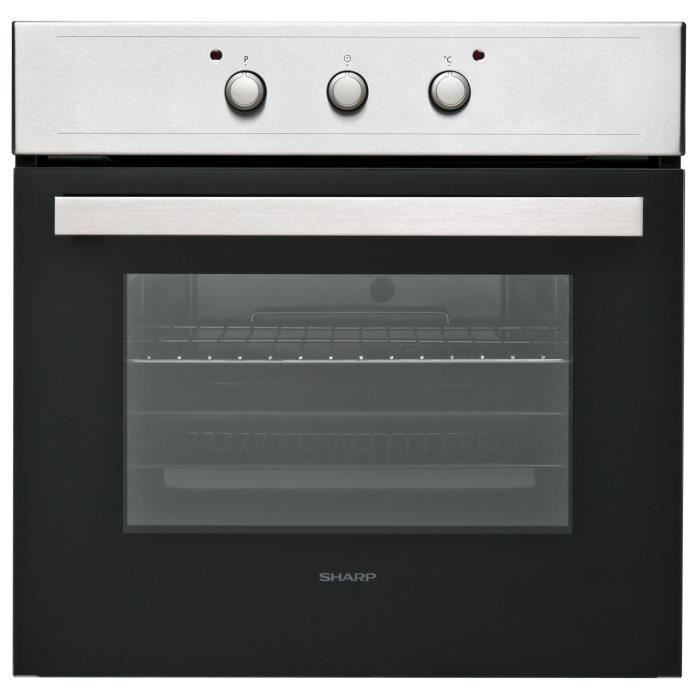 SHARP K-50M15IL2 - Four électrique encastrable - Convection naturelle - 64L - Nattoyage manuel - A - Inox anti trace