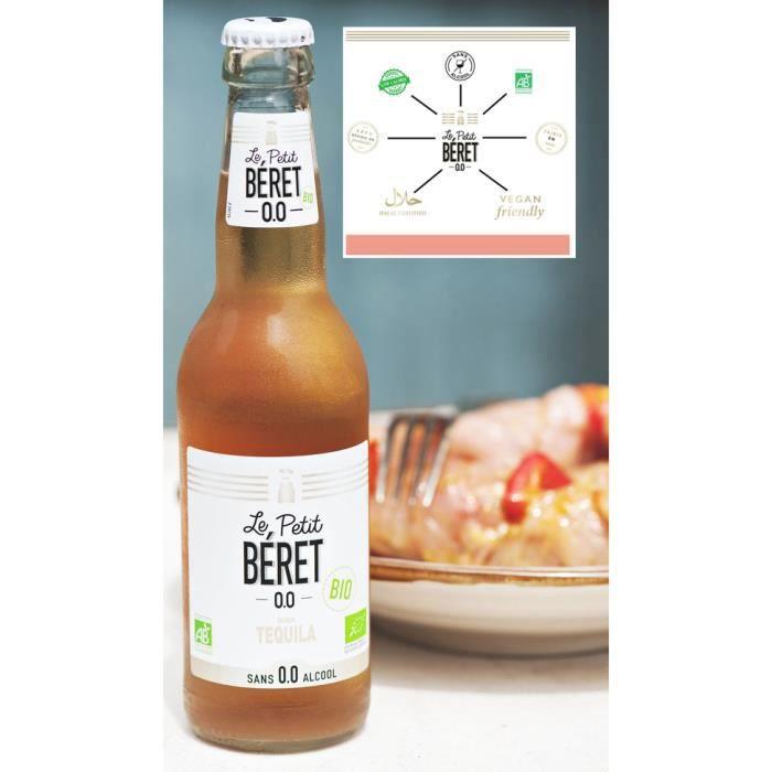 Le Petit Béret Tequila sans alcool Bio 0,0% 3x33cl