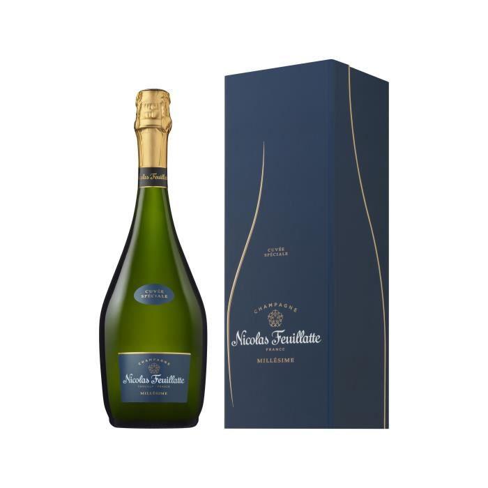 Champagne Nicolas Feuillatte Cuvée Spéciale Millésimée en coffret Brut - 75 cl