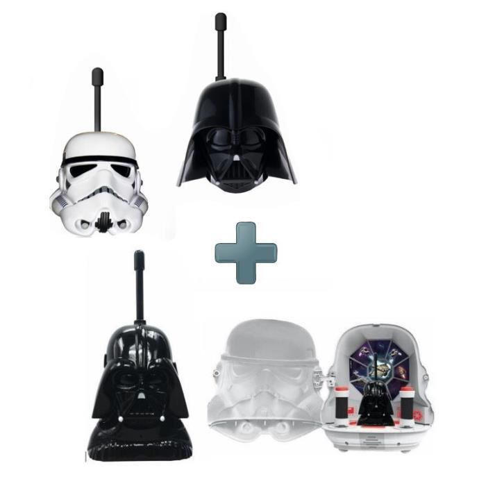 PACK STAR WARS Base Station + Talkies Walkies, StormTrooper et Dark Vador