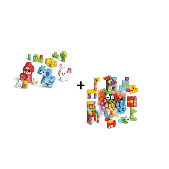 Bla Bla Blocks - Mes animaux domestiques et coffret de 50 blocs (sans electronique)