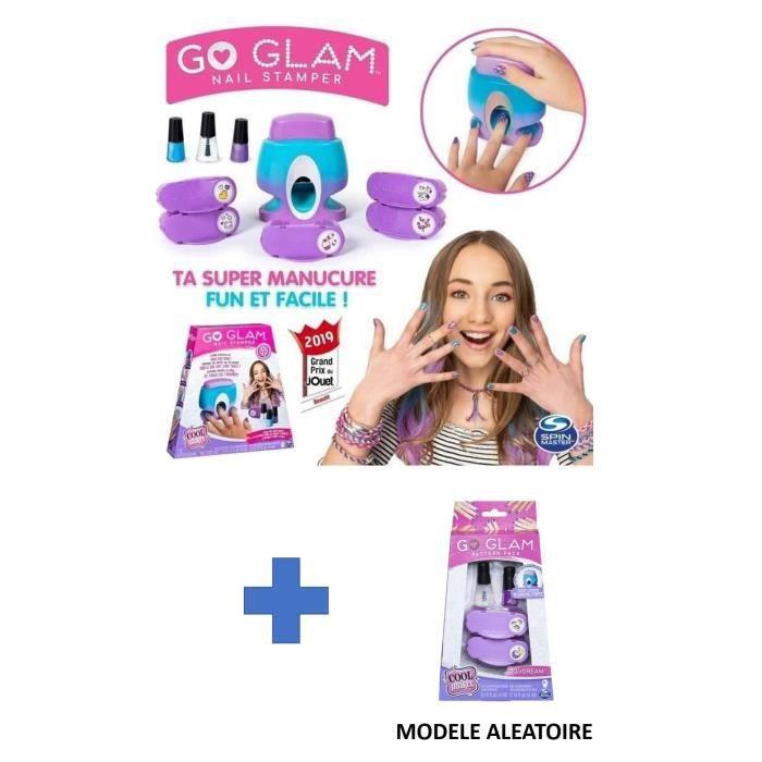 GO GLAM NAIL Machine à ongles + 1 grande recharge (modèle aléatoire)
