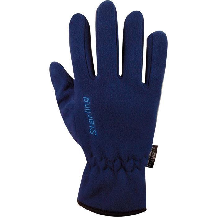 STARLING Gants Polaire - Mixte - Bleu Marine