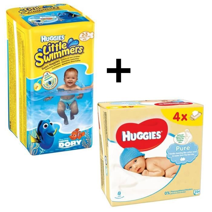 Couche huggies little swimmers vente discount for Pampers couche piscine