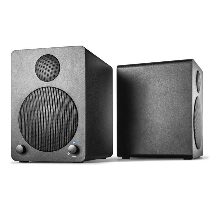 Wavemaster Enceintes stéréo 2.0 CUBE MINI - Noir - 36W - Bluetooth - PC/Tablette/Mobile
