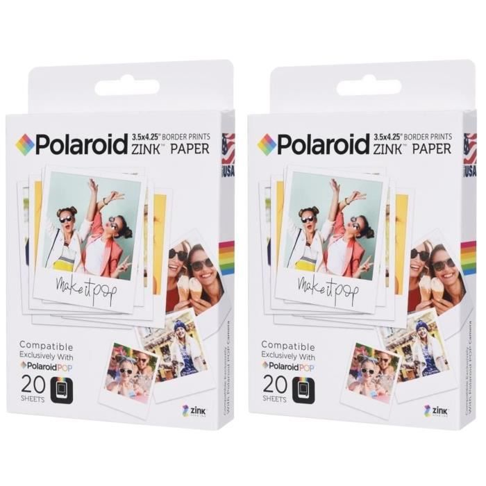 Pack 2 POLAROID POLZL3X420 Papier photo 3\