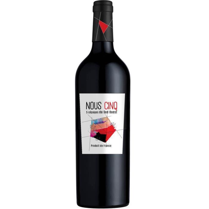 Nous Cinq 2018 Vin de France - Vin rouge du Sud Ouest