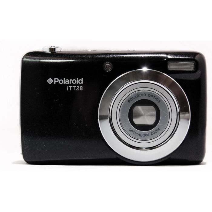 POLAROID ITT28-BLK Appareil Photo Compact 20 Mpx - Zoom Optique x20 - Ecran 3'' - Batterie Lithium - Noir