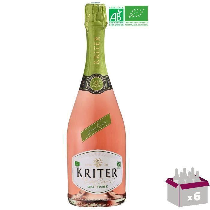 Kriter - Vin effervescent blanc Rosé - Bio