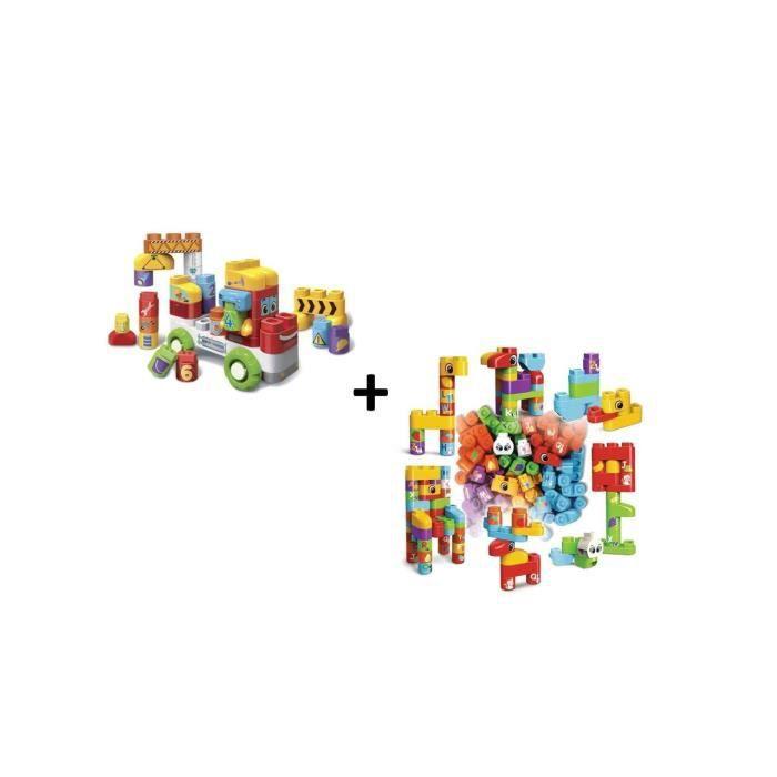 Bla Bla Blocks - Mon camion 1,2,3 interactif et coffret de 50 blocs