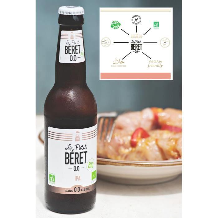 Le Petit Béret Bière IPA sans alcool Bio 0,0% 3x33cl