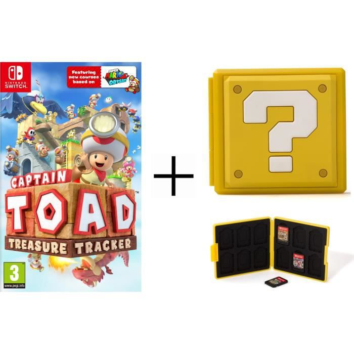 Captain Toad Jeu Switch + Boîtier pour jeux Switch - Question Block Jaune