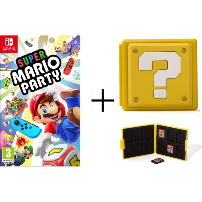 Super Mario Party + Boîtier pour jeux Switch - Question Block Jaune