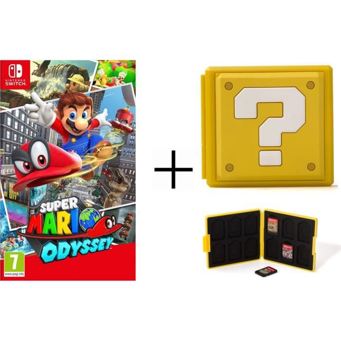 Super Mario Odyssey + Boîtier pour jeux Switch - Question Block Jaune