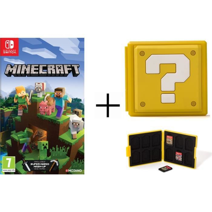 Minecraft + Boîtier pour jeux Switch - Question Block Jaune