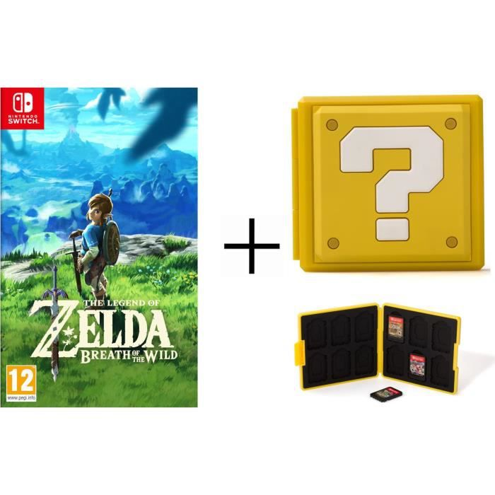 The Legend of Zelda + Boîtier pour jeux Switch - Question Block Jaune