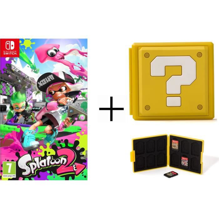 Splatoon 2 Jeu + Boîtier pour jeux Switch - Question Block Jaune