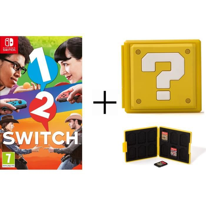 1-2-Switch Jeu Switch + Boîtier pour jeux Switch - Question Block Jaune