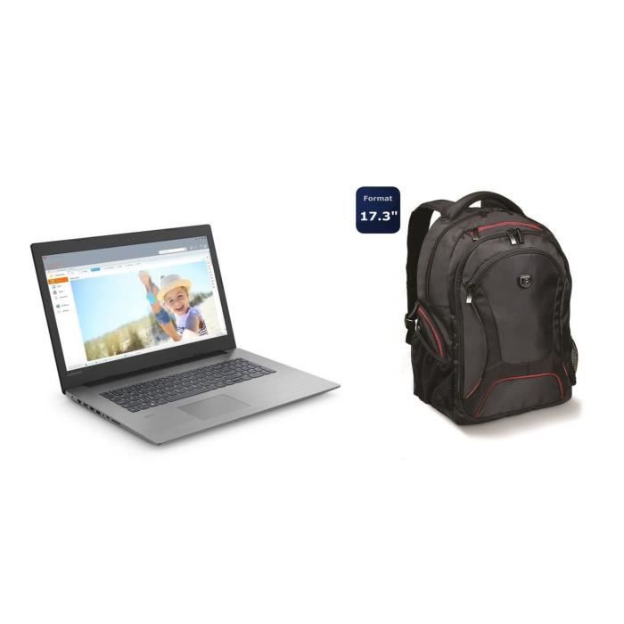 Lenovo pc portable ideapad 330 173 fhd 4go 16go optane i5 8300h gtx 1050 2go 1to port designs sac à dos pc menuire