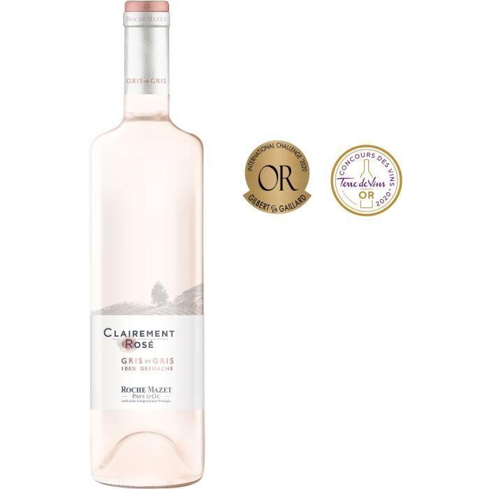 Clairement Rosé de Roche Mazet 2019 Pays d'Oc - Vin rosé de Languedoc