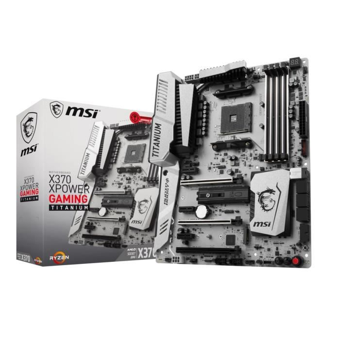 MSI Carte mère X370 XPOWER GAMING TITANIUM - Socket AM4 - DDR4 - 3200 MHz - X370 XPOWER GAMING TITANIUM