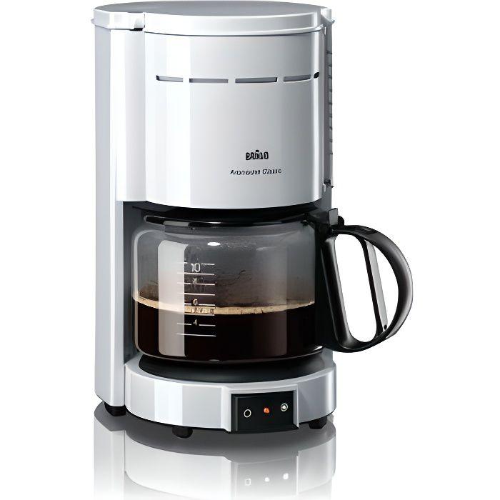 BRAUN KF47/1 Cafetière filtre Aromaster Classic - Blanc