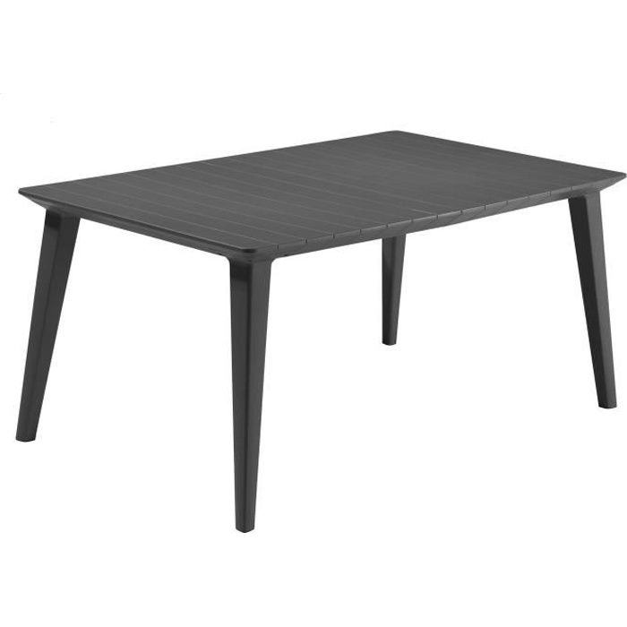 Table Design contemporain 160cm Graphite - ALLIBERT BY KETER - 6 personnes - LIMA