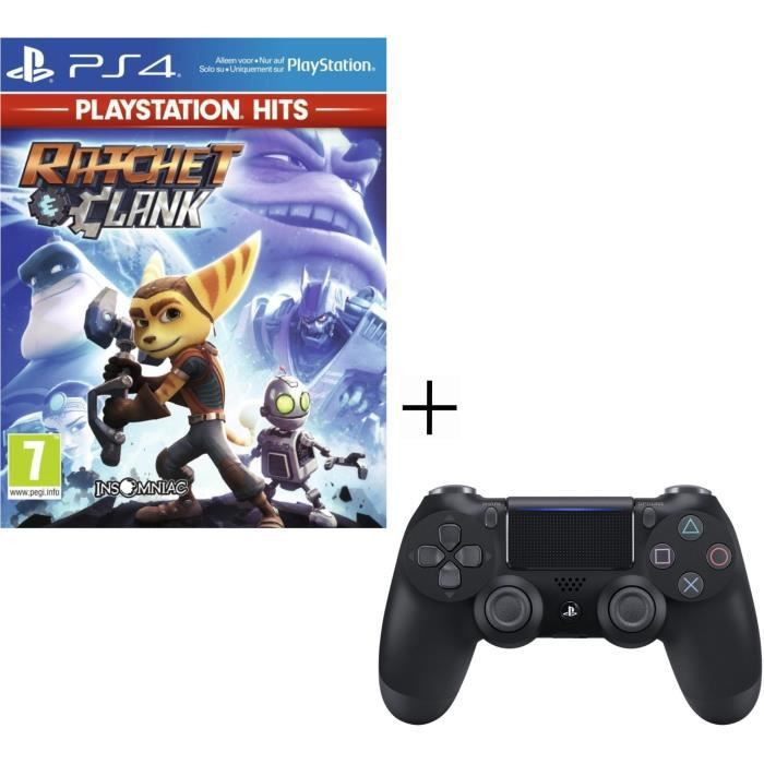 Pack Playstation : Manette PS4 + Voucher Fortnite + Ratchet & Clank PS Hits Jeu PS4