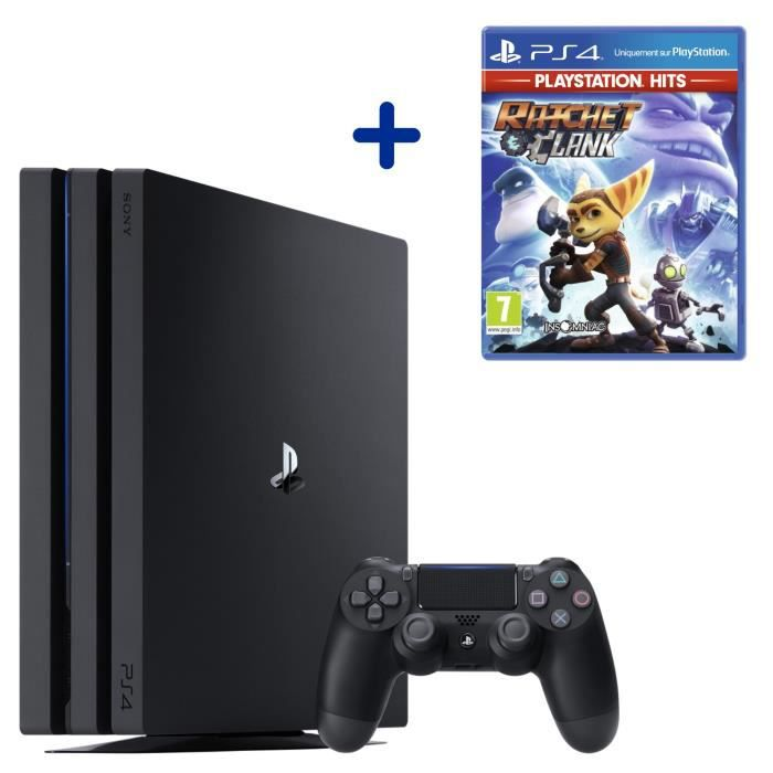 Console PS4 Pro 1To Noire/Jet Black + Ratchet & Clank PlayStation Hits