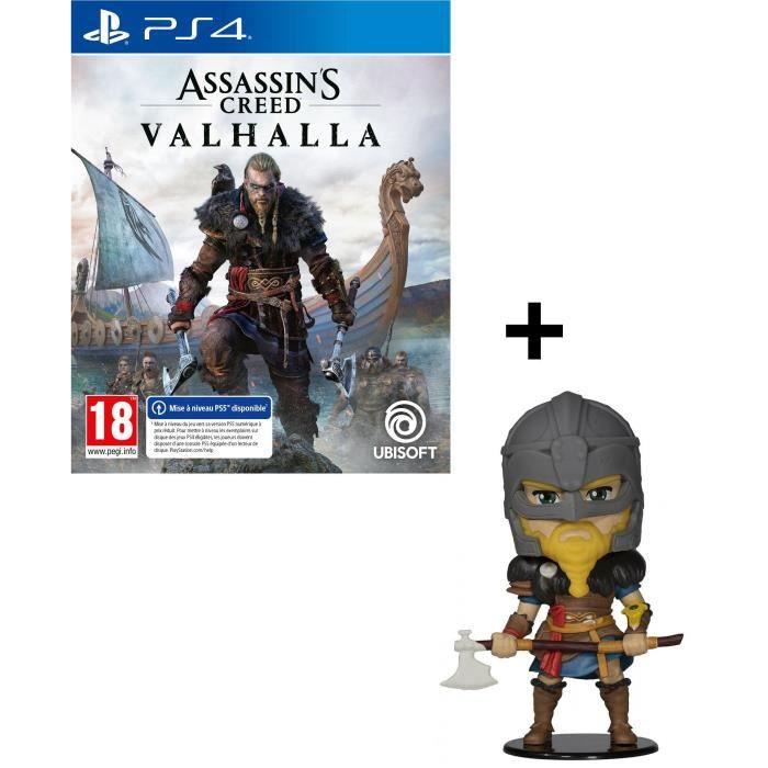 Pack Assassin's Creed Valhalla PS4 : Assassin's Creed Valhalla Jeu PS4 + Figurine Heroes Assassin's Creed Valhalla - Eivor (Homme)