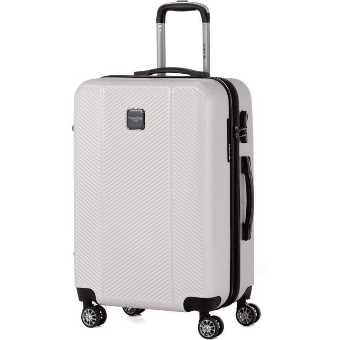 MURANO Valise week-end taille M 65cm avec 8 roues Ivoire