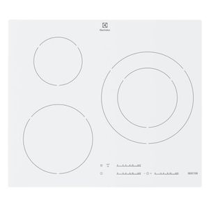 ELECTROLUX EHM6532IW1 - Table de cuisson - Induction - 3 zones - 7400W - L 59xP52cm - Rev?tement verre - Blanc