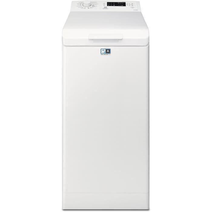 Lave-linge top ELECTROLUX EWT1262IWD - 6 kg - 1200 trs/min - Blanc